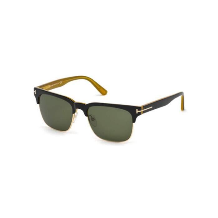 46d73c49d75ee6 Lunettes de soleil Tom Ford FT0386 05N noir - vert - Achat   Vente ...