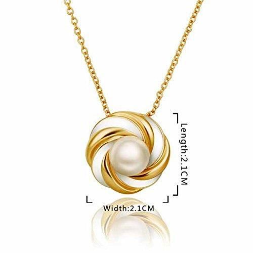 Womens 18k Gold Plated Exotic Spiral Pendant IMH47