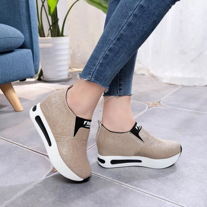 Rond Chaussures beige Talon Slip Shallow Bout Hotskynie®femmes Buckle On Square À Bas XvaxpT