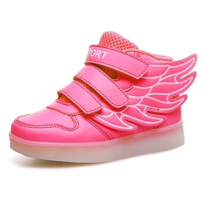 Enfants LED allumée chaussures simili cuir kids... ivuBzXpk