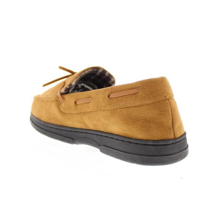 Goldtoe Faux Suede Flannel Plaid Fleece Shearling Lined Slip-on Moccasin Slipper Loafer Shoe YGTGG Taille-47 tP04fq9n