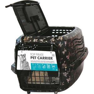 MPETS Cage de transport - Pour chien - 46x31x23cm - Noir