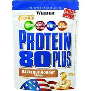 WEIDER Sachet de Protein 80+ Noisette Nougat 500g