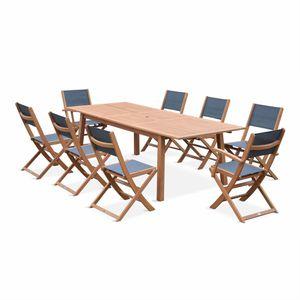 Salon de jardin bois naturel - Achat / Vente Salon de jardin bois ...