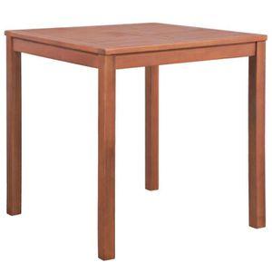 IK-Table carrée d\'extérieur à dîner Bois d\'acacia 80x80x74 cm ...