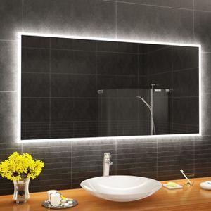ARTFORMA L49 150x80cm Illumination LED Miroir Sur Mesure Eclairage Salle De Bain