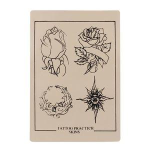 PEAU SYNTHÉTIQUE 1 pc Tatouage Pratique Faux peau Fleur Feuille de