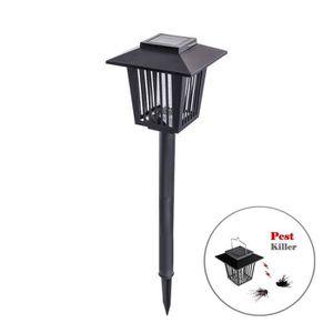 LAMPE ANTI-INSECTE Lampe Anti-Moustique Éclairage solaire LED 2 en 1 237b24bf5732