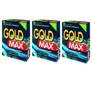 SOIN STIMULANT SEXUEL Aphrodisiaque Pack 3 Gold Max X 20. Gold Max.