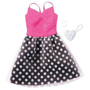 ACCESSOIRE POUPÉE Vêtements pour poupée Barbie : Robe de soirée aill