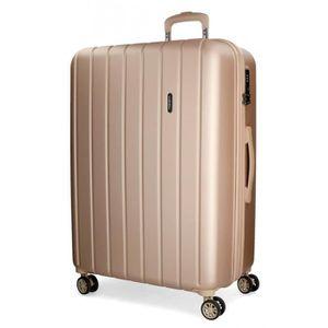VALISE - BAGAGE Bois Movom grande valise rigide 75cm Champagne