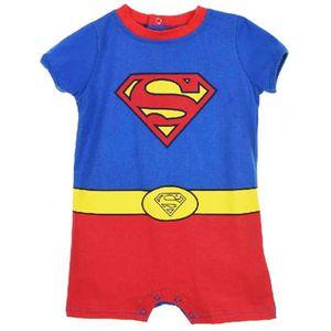 BODY Barboteuse bébé garçon Superman Bleu rouge de 3 à 23914dd8020