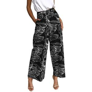 PANTALON Femme Pantalon Large Jambe Taille Haute Pantalon P 5998013ecdc