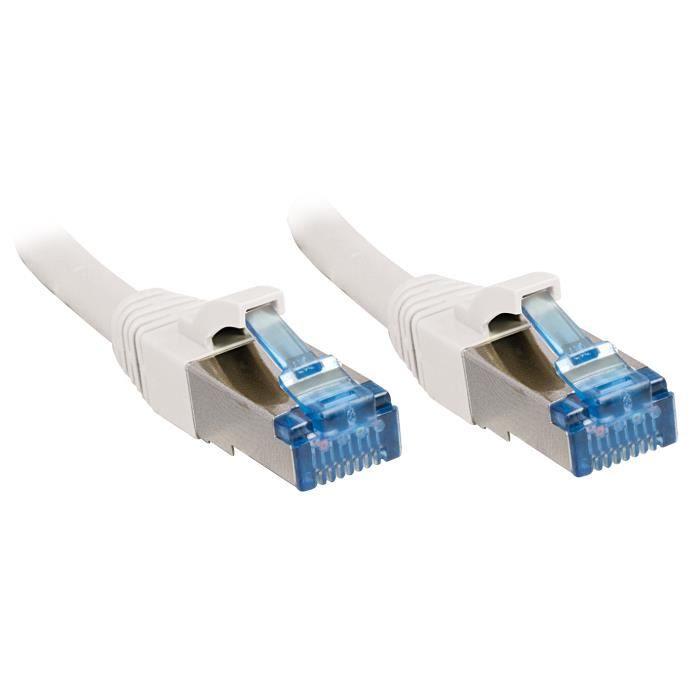 LINDY Câble réseau en cuivre - 6A S/FTP - LSOH - 500MHz - 3 m - Blanc