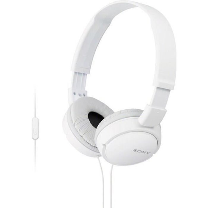 SONY - Casque pliable ZX110 - Blanc