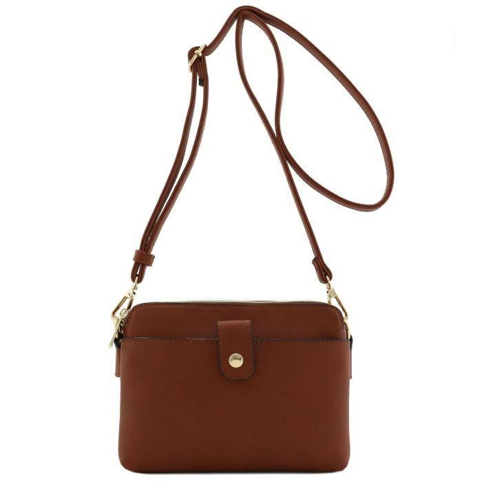 Double Compartiment Petit sac à bandoulière RVNL5