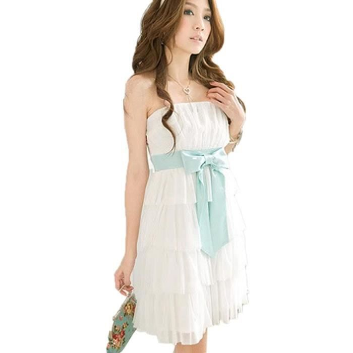 Mini Jupon Femmes Robe Sexy Fête Couches Doux Bowknot