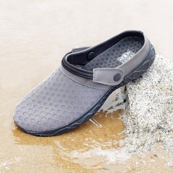 2017 été nouveaux hommes Sabots Chaussons Sandales appartements Chaussures creux Voyage en plein air amoureux de loisirs