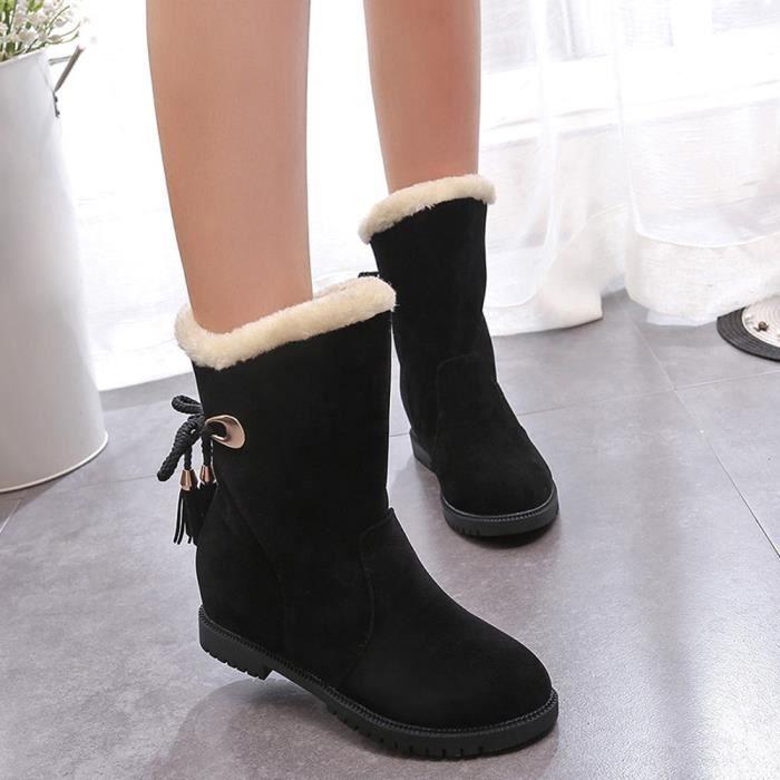 D'hiver Femme Bottes Talons Neige De Zareste Chaussures noir bottes Bottines Mode wqZqPnTS