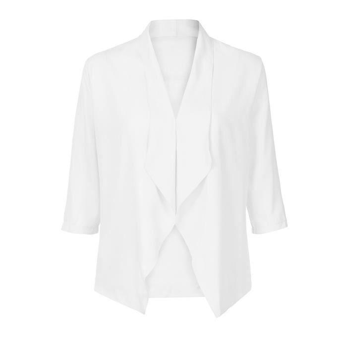 En Femmes Mousseline 4 Cardigan Solide Paontry8057 Casual Manches Manteau Comfy Ouvert Légère Soie 3 De Avant 0qY4g