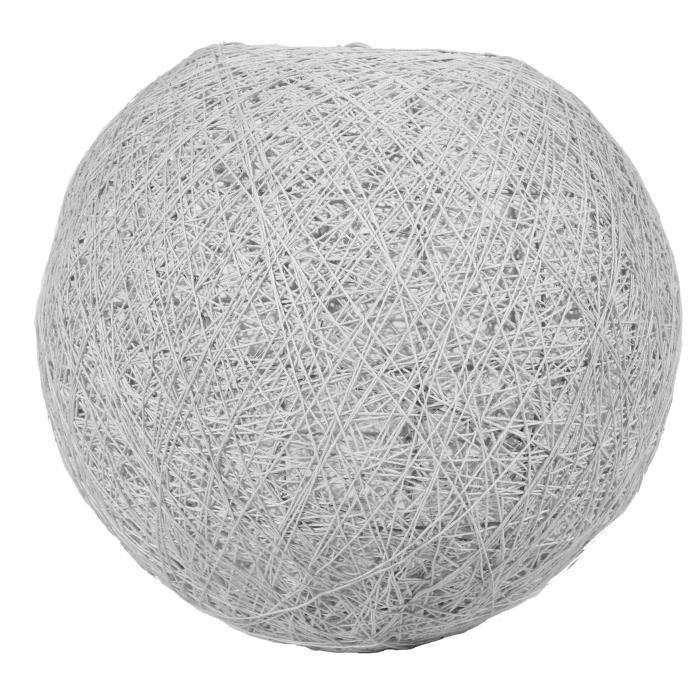 Sema lustre suspension boule grise d30cm