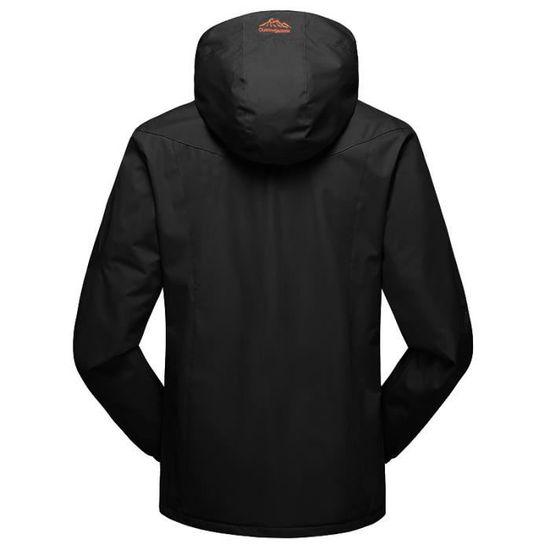 Cachemire Outdoor Hommes Hiver Noir Air Sport Plein Assault Manteau À En Capuche Automne Zipper wrxrt