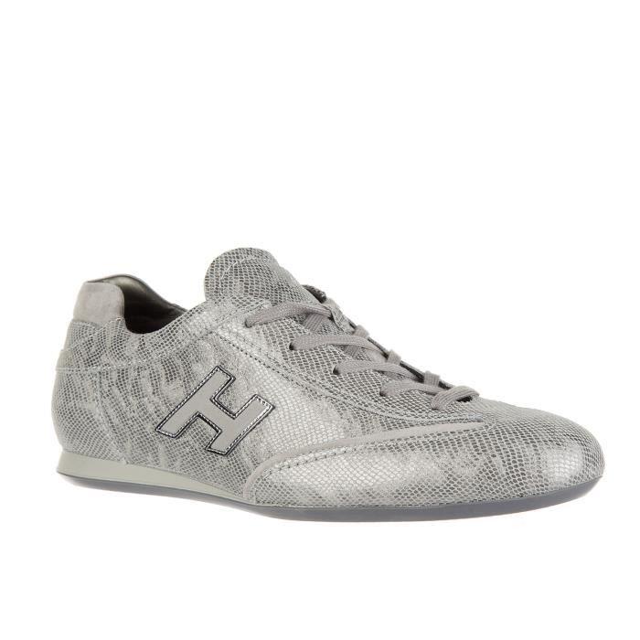 Chaussures baskets sneakers femme en cuir olympia h flock Hogan