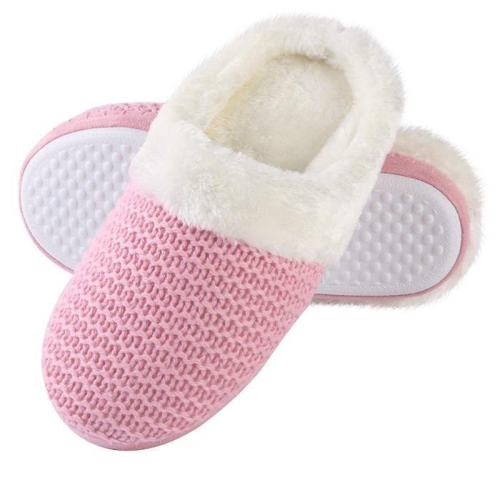 Câble Cozy Knit Chambre intérieure Maison Accueil Comfy Slip Pantoufles Chaussures U42CH Taille-41