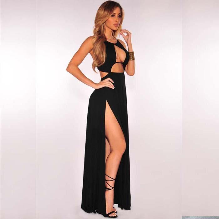 Fente Été Femme Plage Nu Yst Robe De Dos Marron nz013noir Sexy s noir Serrée px1Xqwdn4