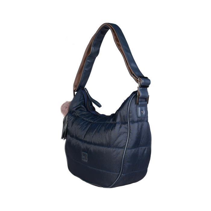Cyllene Fantaisie - Sac porté épaule pour femme (LB17W108-4_NOTTE) - Bleu