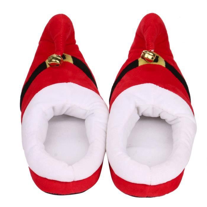 Pantoufles Femmes Hommes en peluche Hiver Noël Adulte Chaussons doux et chauds Populaire BBZH-XZ135Vert39 Ou1xP