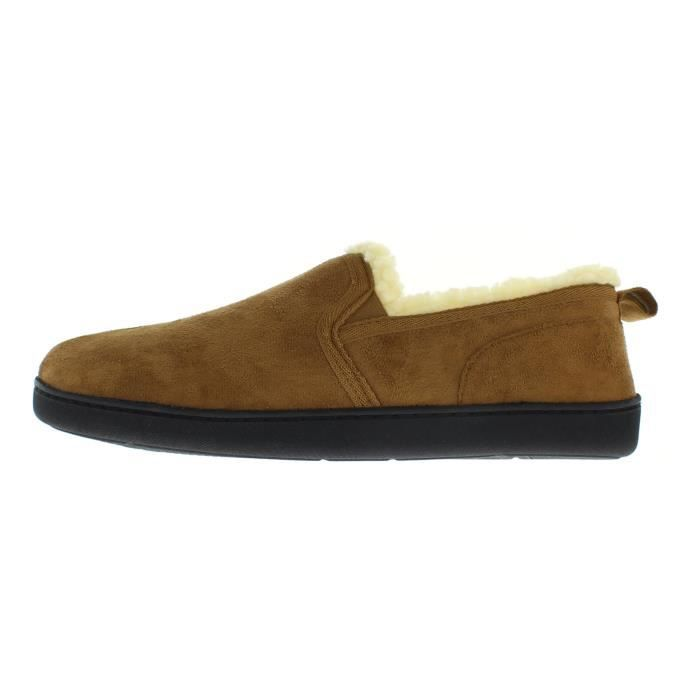 Norman Memory Foam Slippers Warm Sherpa Fleece Lined House Shoes Casual Slip On Loafers EXB7N Taille-44 1-2 PaRf3