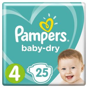PAMPERS Baby Dry Taille 4 - 8 ? 16kg - 25 couches