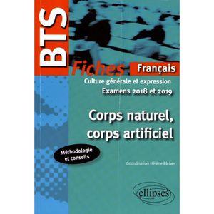 MANUEL BTS Corps naturel, corps artificiel, fiches de culture