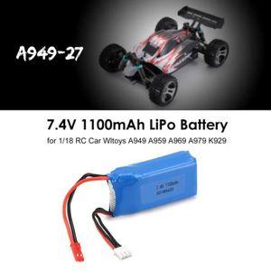 DRONE 1-18 RC Car 7.4V 1100mAh Batterie pour JST Branche