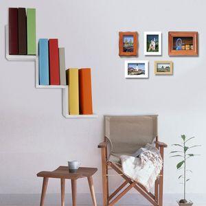CADRE PHOTO COOLMALL Magasin 78*22*18cm Étagères Murales Blanc