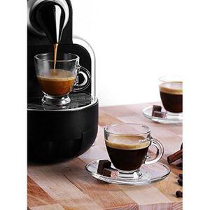 SERVICE À THÉ - CAFÉ Set de 6 tasses et 6 sous tasses en verres - Tasse