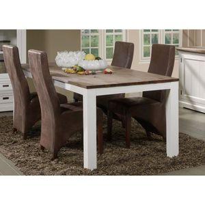 TABLE À MANGER SEULE Grande table à manger contemporaine en bois massif