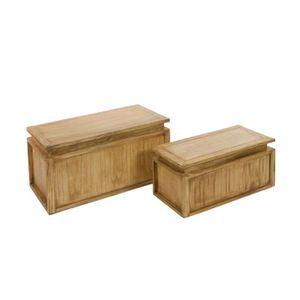 table coffre bois achat vente table coffre bois pas cher cdiscount. Black Bedroom Furniture Sets. Home Design Ideas