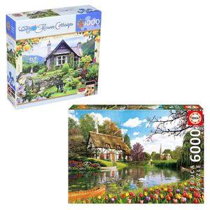 PUZZLE Coffret Puzzles Cottage : 2 puzzles 1000 et 6000 p