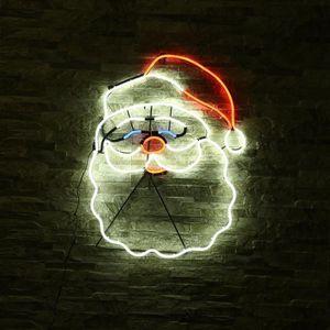 COFFRET DE DÉCORATION Néon Lumière - Forme de père Noël Décoration mural