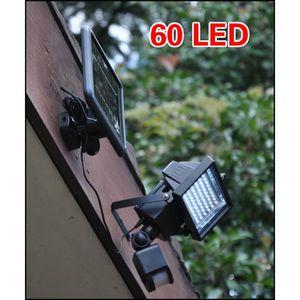 APPLIQUE EXTÉRIEURE 60 LED Solaire Lumière Lumière de sécurité avec dé