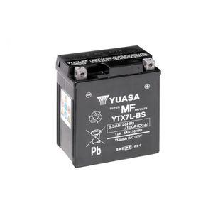 BATTERIE VÉHICULE Batterie YUASA YTX7L-BS sans entretien livrée avec