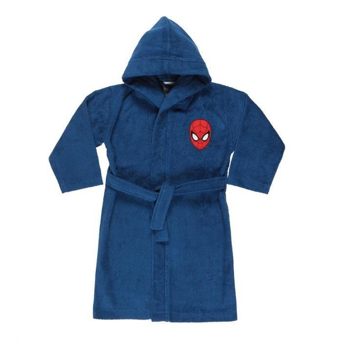 Peignoir Spiderman - 100% coton - Col kimono - 6 / 8 ans - Bleu / RougePEIGNOIR - SORTIE DE BAIN (HORS PUERICULTURE)