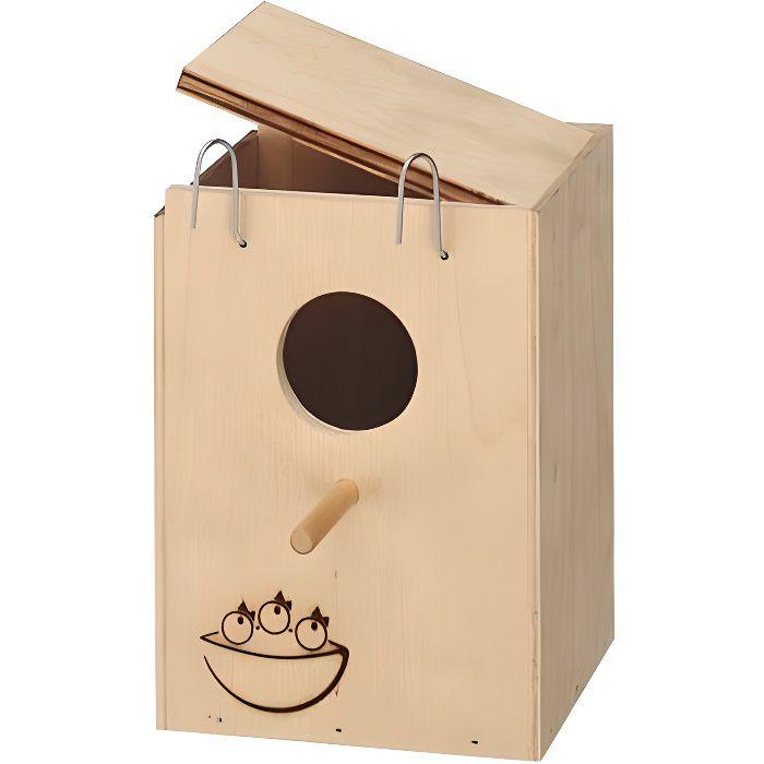 Nid en bois pour oiseaux small achat vente nichoir - Cage a oiseaux en bois deco ...