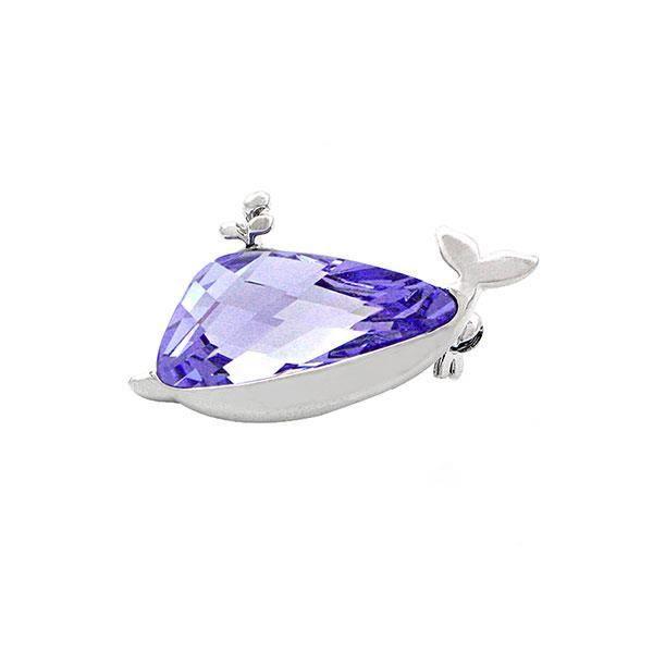 Elégant violet élément de cristal Swarovski Broche baleine (20809)