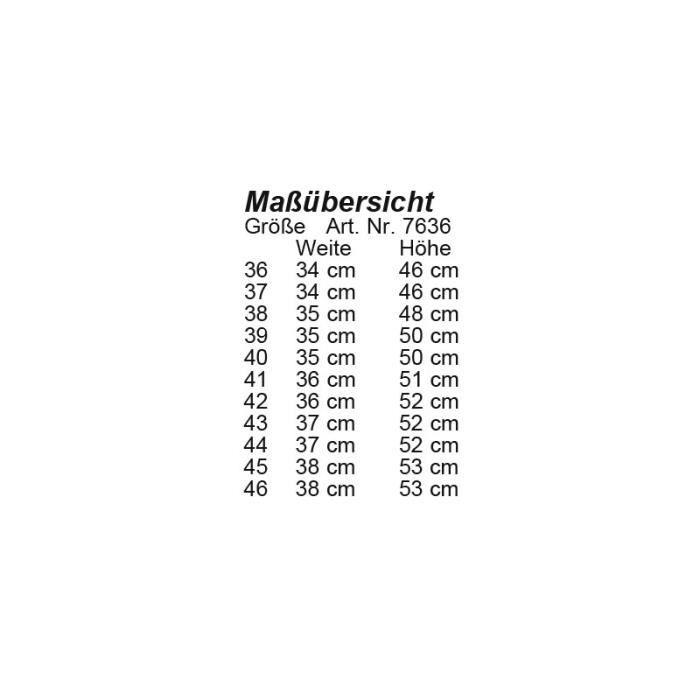 Bottes Valencia Hiver haute et étroite 36 LG ET (L 34cm H 46cm) Noir
