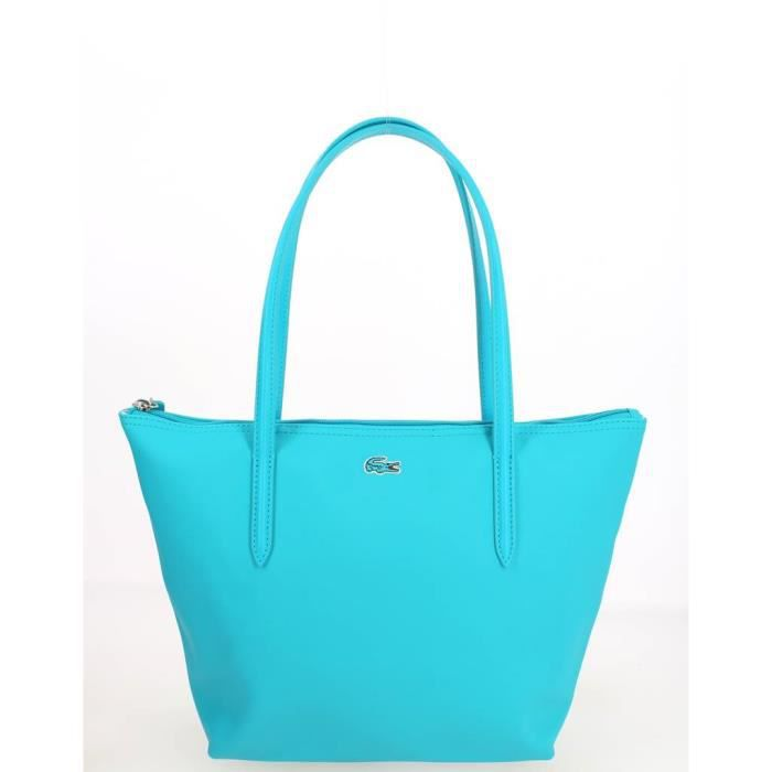 aa9acf8ebe18 Sac Shopping Lacoste S Turquoise 24(36,5) L x 25 H x 14 E cm - Achat ...