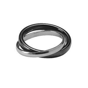 alliance ceramique 2 anneaux femme argent 925 noire achat vente bague anneau alliance. Black Bedroom Furniture Sets. Home Design Ideas
