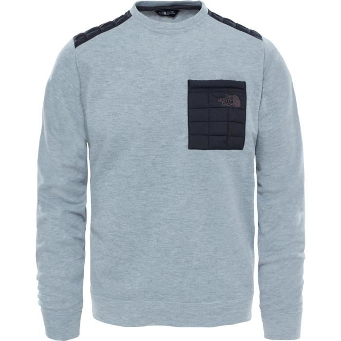 d7b06d3c70802 North Face Mountain Slacker Thermoball Crew Sweater Gris Gris ...